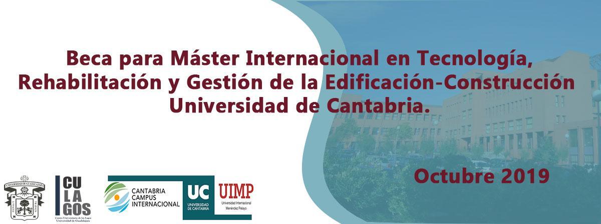 Beca para Máster Internacional en Tecnología, Rehabilitación y Gestión de la Edificación
