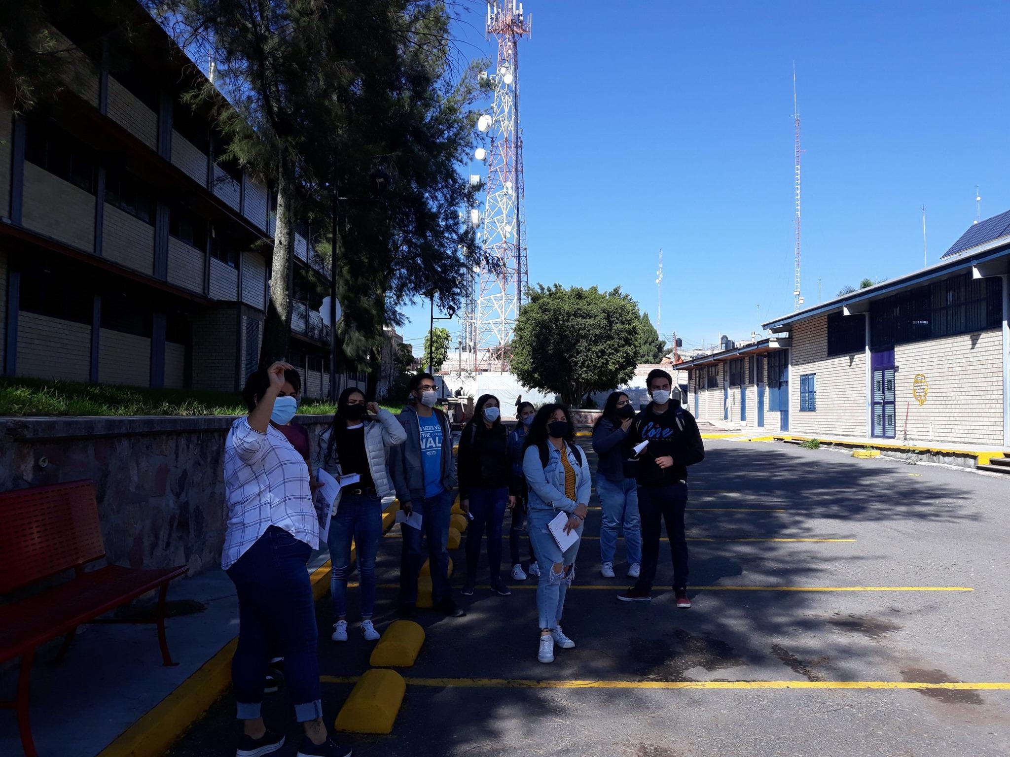 Los estudiantes conocieron algunos de los puntos principales de las instalaciones de la sede Lagos de Moreno