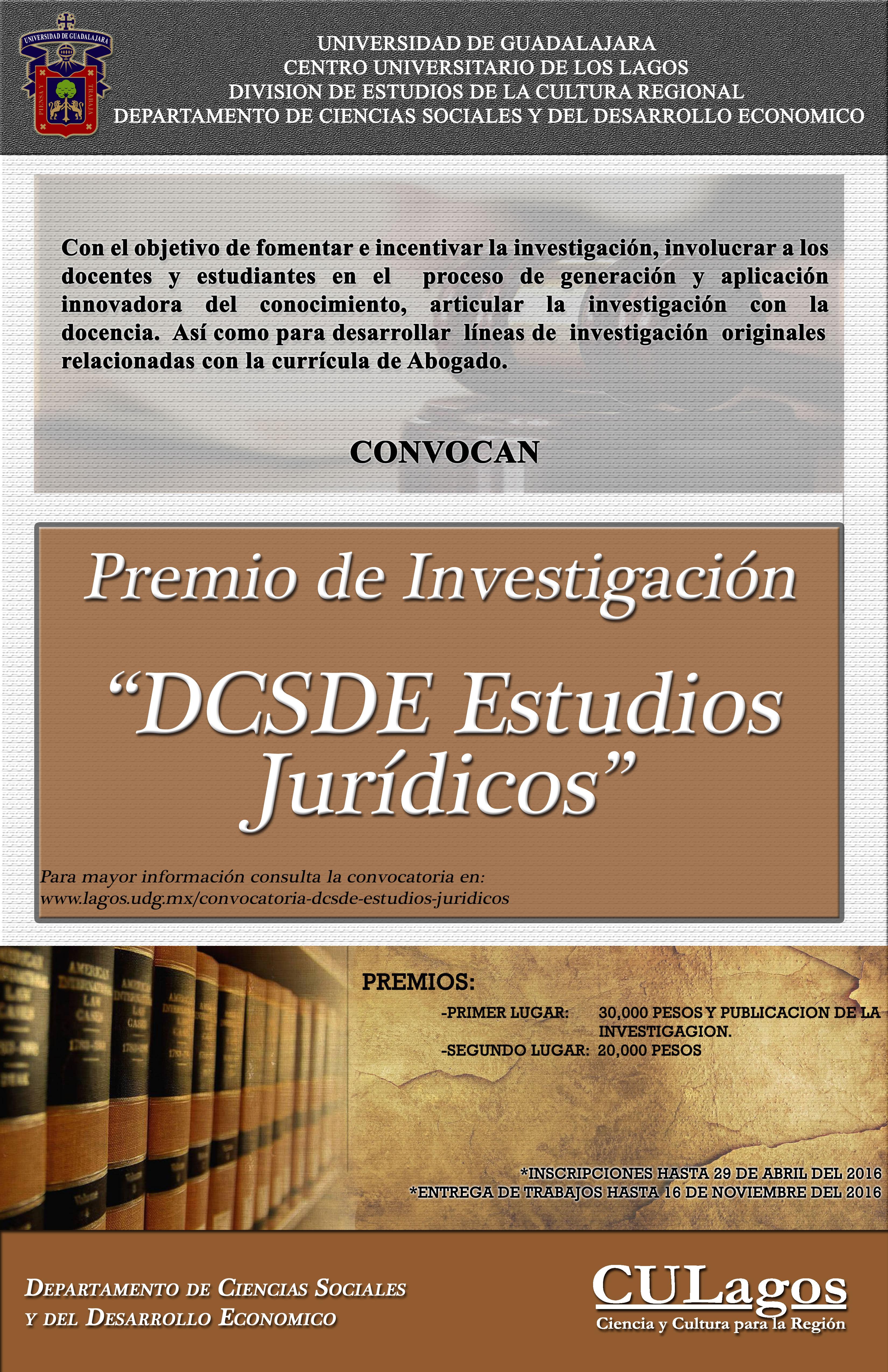 Convocatoria DCSDE Estudios Jurídicos | Centro Universitario de ...
