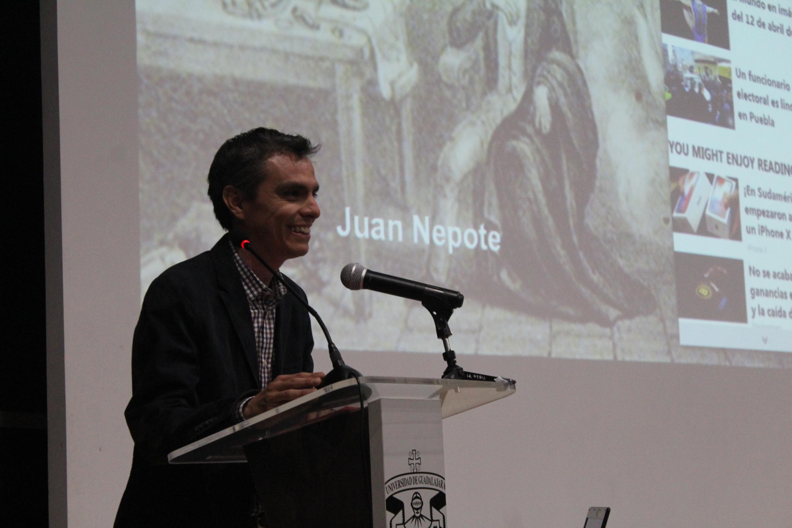 Juan Nepote participó en la Cátedra Sergio Pitol