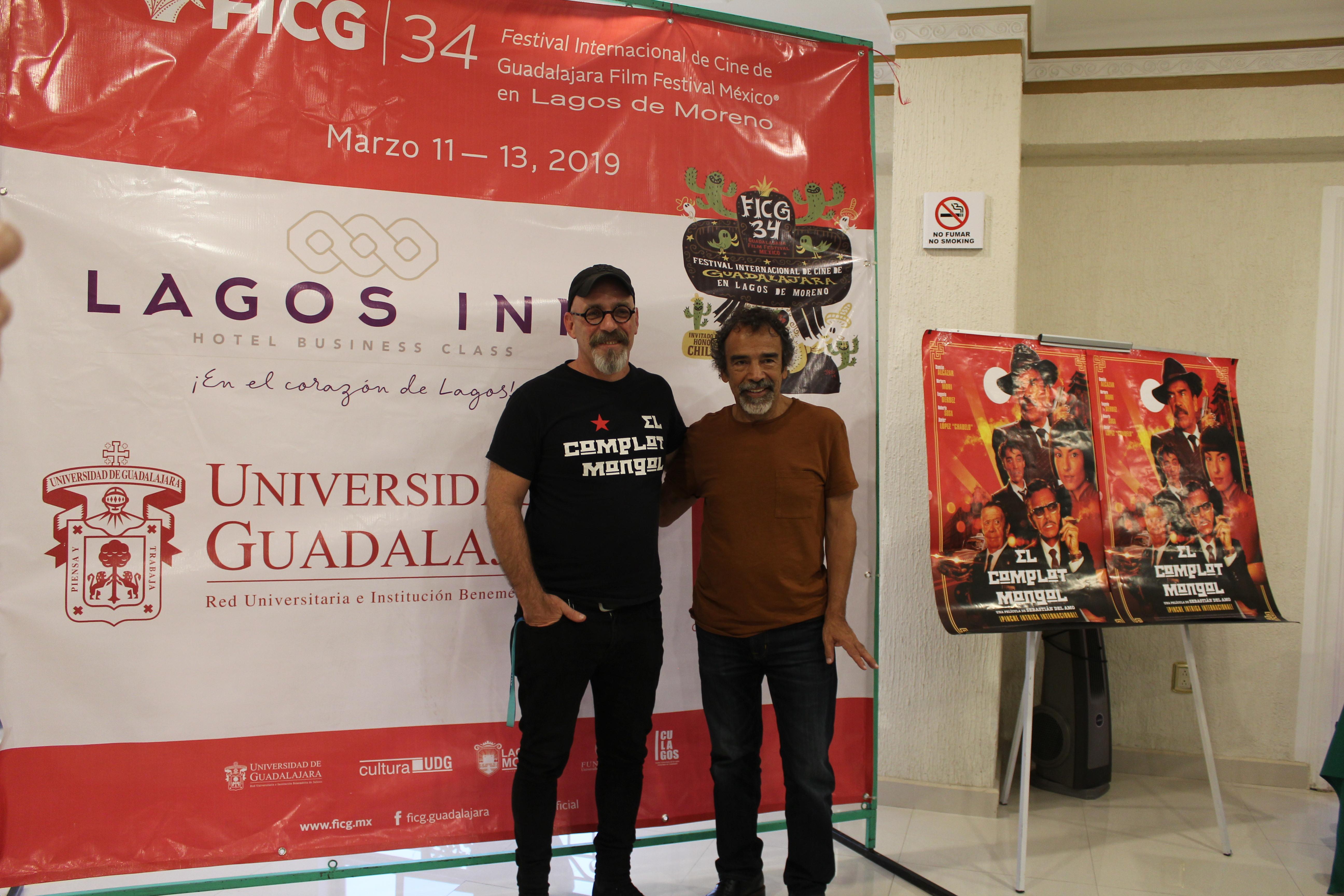 Sebastián del Amo y Damián Alcázar sonríen a las cámaras