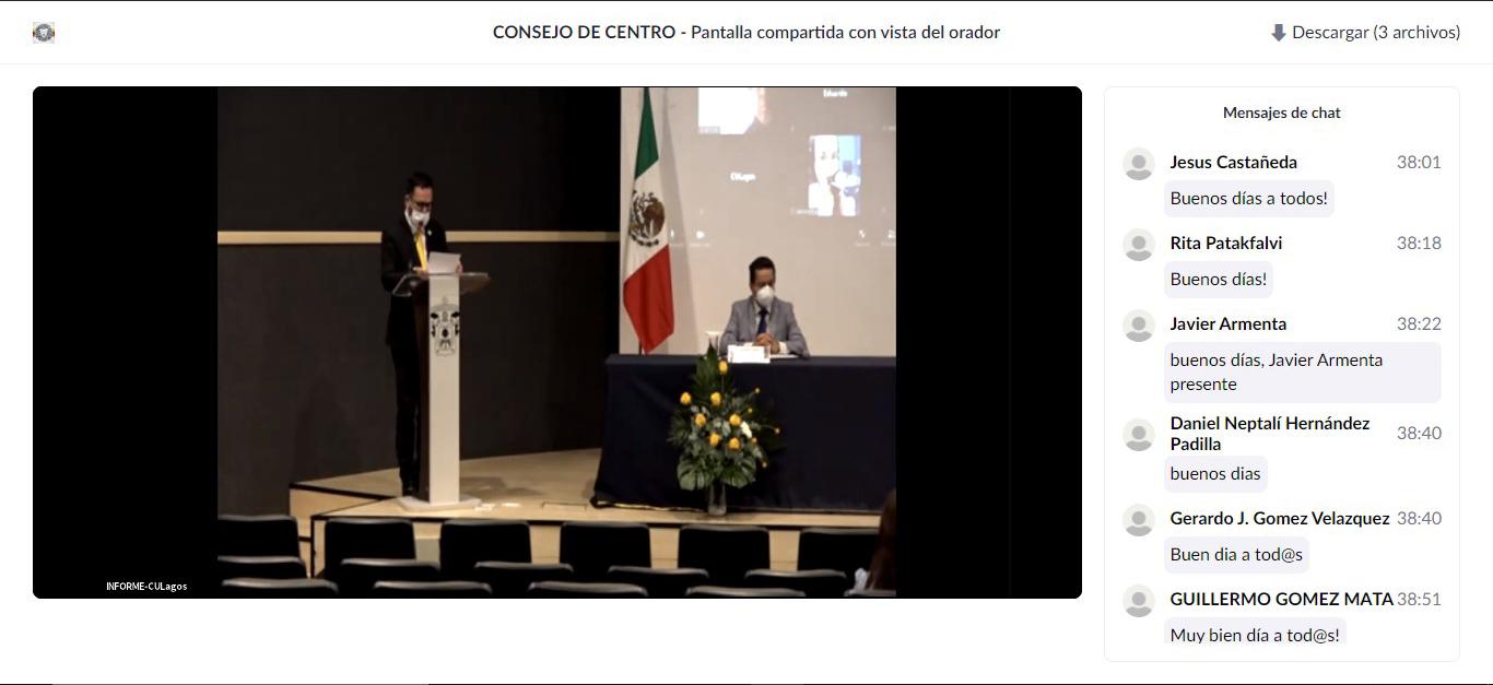 El informe se llevó a cabo en el Auditorio Dr. Horacio Padilla Muñoz