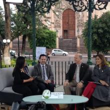 Entrevista realizada al Rector general y al Rector del CULagos, durante la transmisión de Señal Informativa
