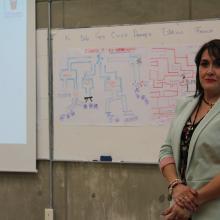 La doctora María Teresa Gómez en el cierre del curso