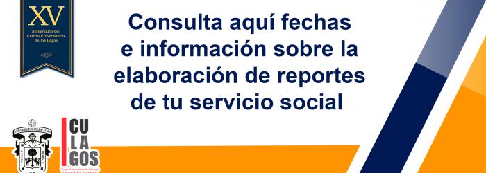 Banner Información sobre reportes de servicio social