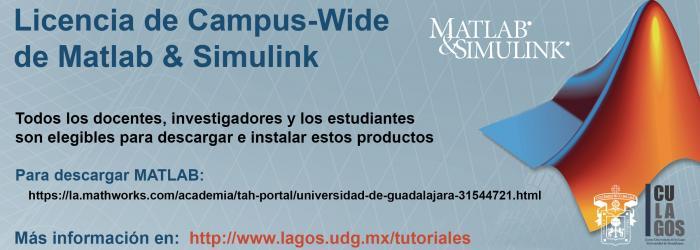 Banner Licencia de Campus-Wide  de Matlab & Simulink