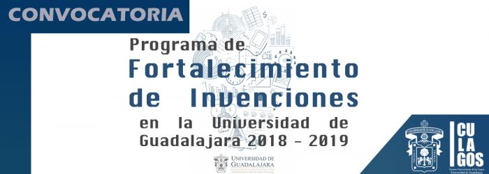 Programa de Fortalecimiento de invenciones 2018-2019
