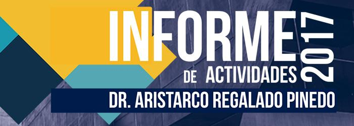 Informe de actividades Dr. Aristarco Regalado Pinedo