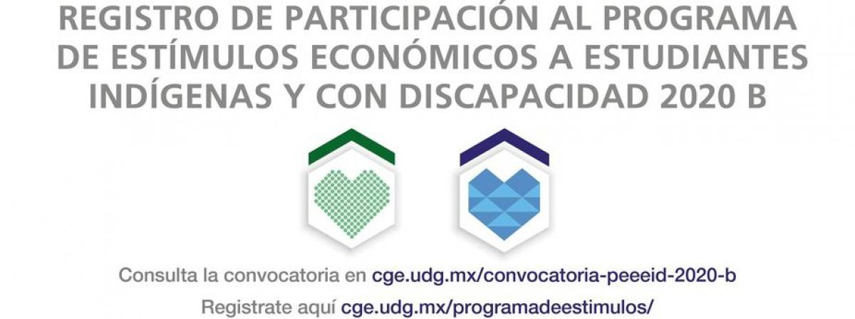 PROGRAMA DE ESTÍMULOS ECONÓMICOS A ESTUDIANTES CON DISCAPACIDAD 2020-B