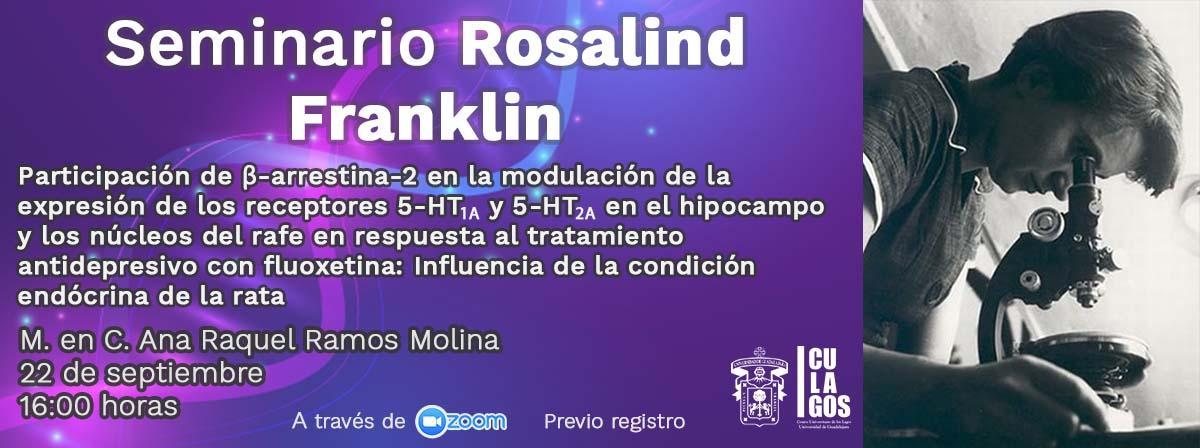 Banner Seminario Rosalind Franklin - 22 de septiembre de 2021