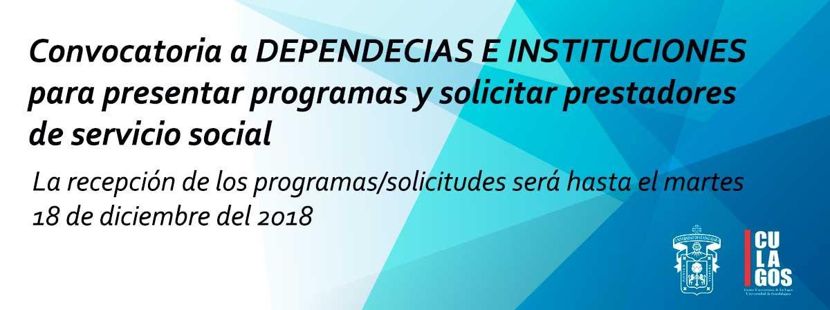 Convocatoria Servicio Social Dependencias e instituciones 2019A