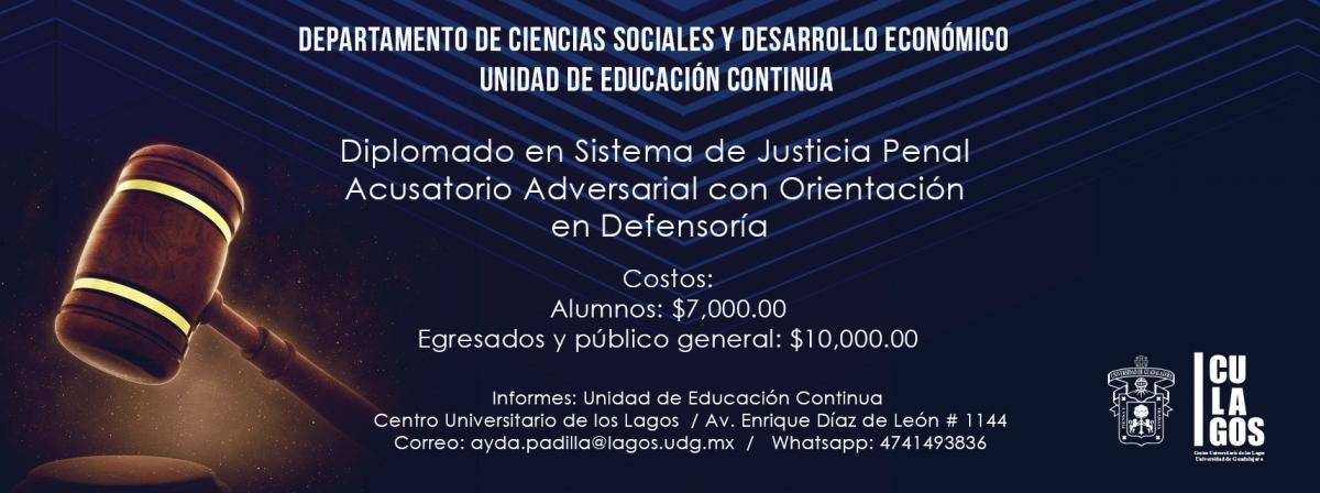 Diplomado de justicia penal
