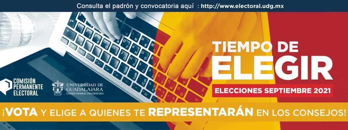 Banner padrón de electores y elegibles de la universidad