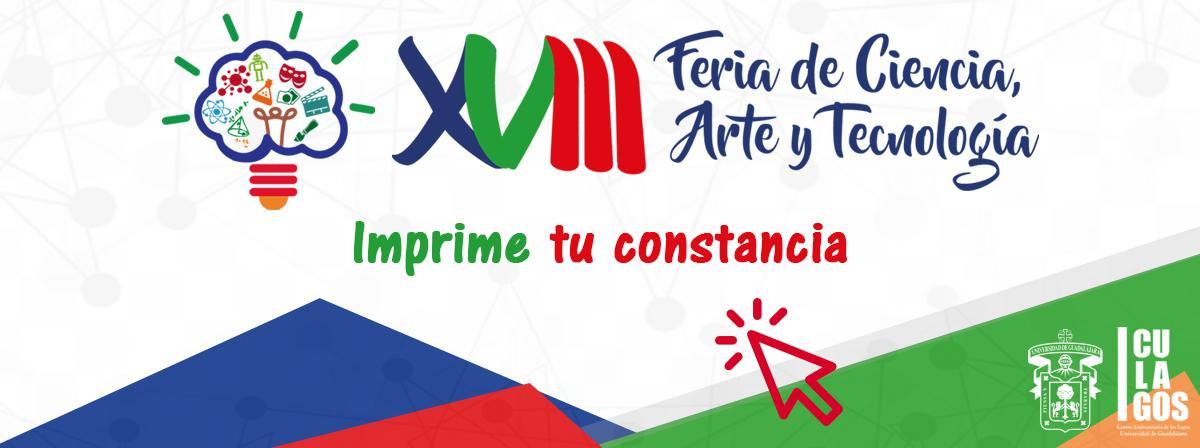 Banner para informar de que ya puden imprimir su constancia de participación en la XVII Feria de Ciencia, Arte y tecnología