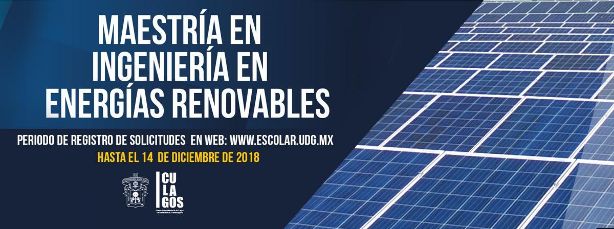 Maestría en ingeniería en energías renovables