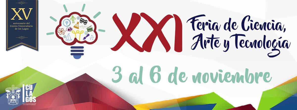 Banner XXI Feria de Ciencia, Arte y Tecnología