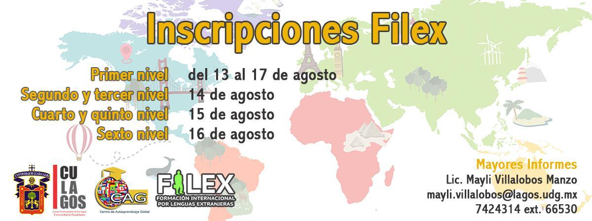 Inscripciones FILEX 2018B
