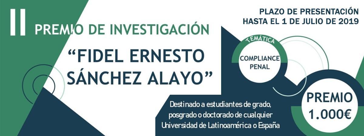 II Premio de InvestigaciónFidel Ernesto Sánchez Alayo
