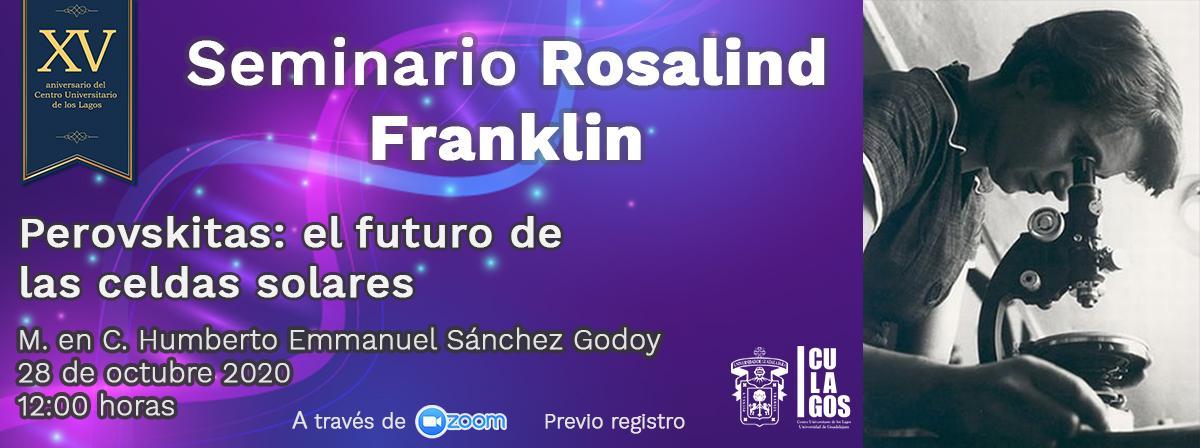 Banner Seminario Rosalind Franklin 28 de octubre de 2020
