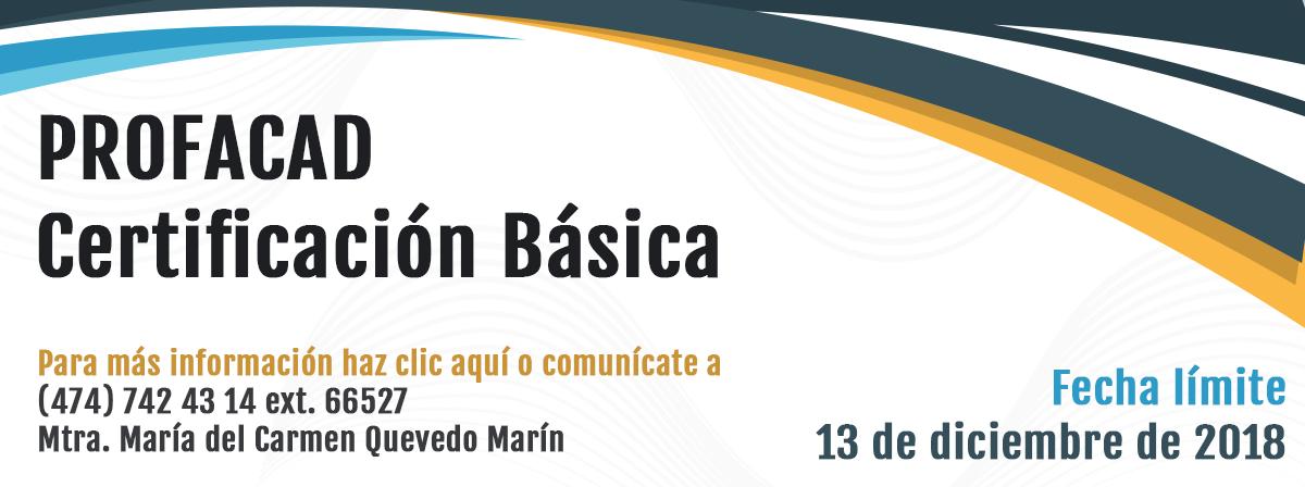 Certificación básica profacad