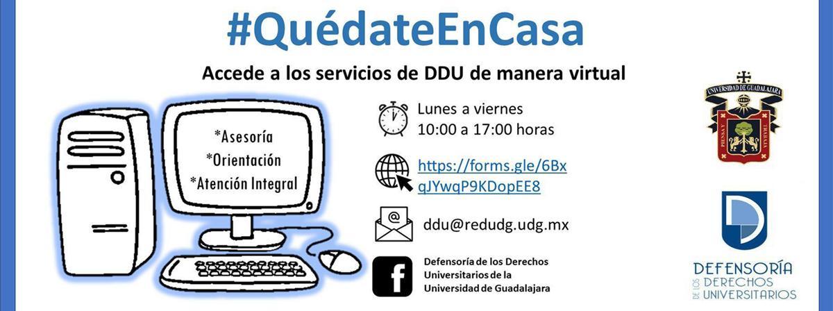 Servicios de Defensoría Derechos Universitarios de manera virtual
