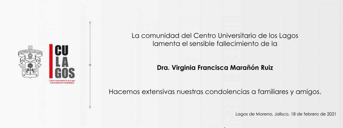Esquela Dra. Virginia F. Marañon