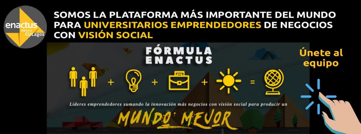 Banner Quieres pertenecer al equipo de Enactus Hub CULagos