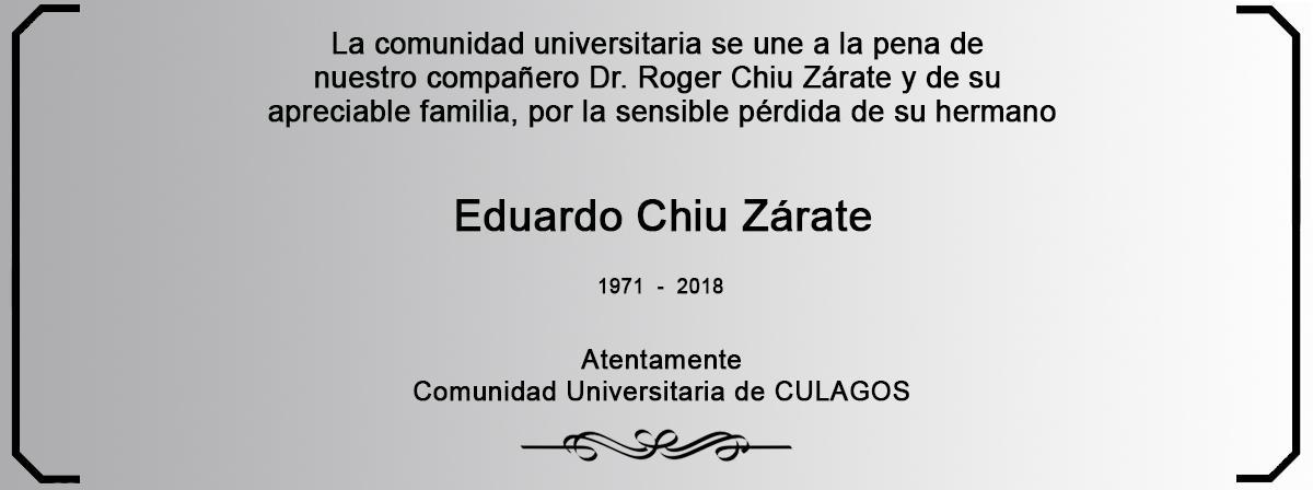 Esquela Eduardo Chiu Zárate