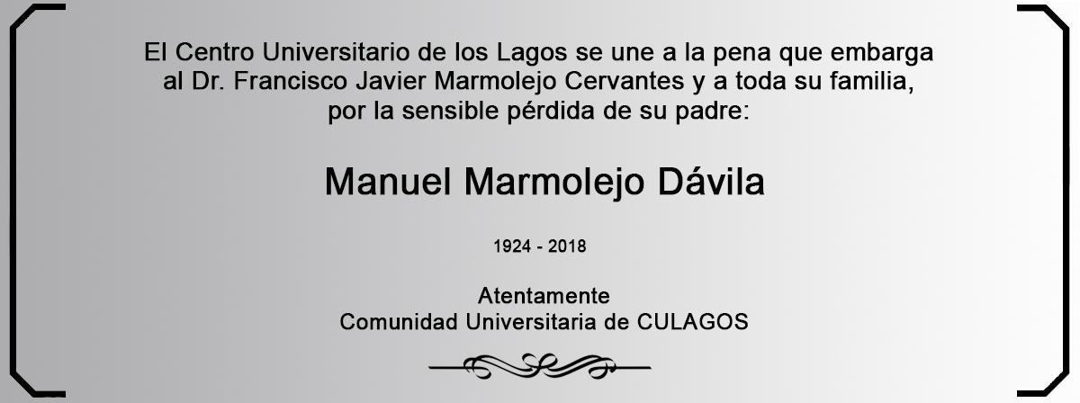 Esquela - Manuel Marmolejo Dávila