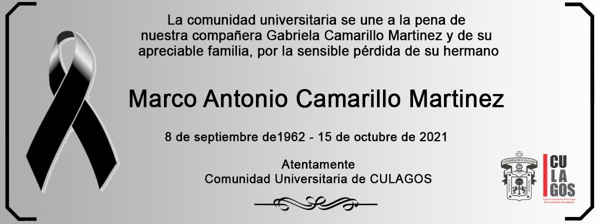 Esquela Marco Antonio Camarillo Martinez