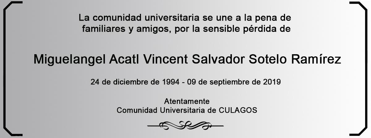 Esquela Miguelangel Acatl Vincent Salvador Sotelo Ramírez
