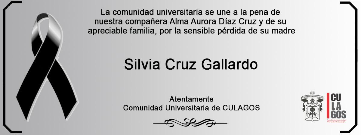 Esquela Silvia Cruz Gallardo