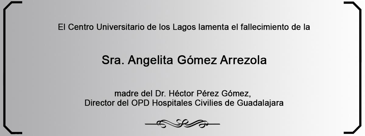 Esquela Sra. Angelita Gómez Arrezola