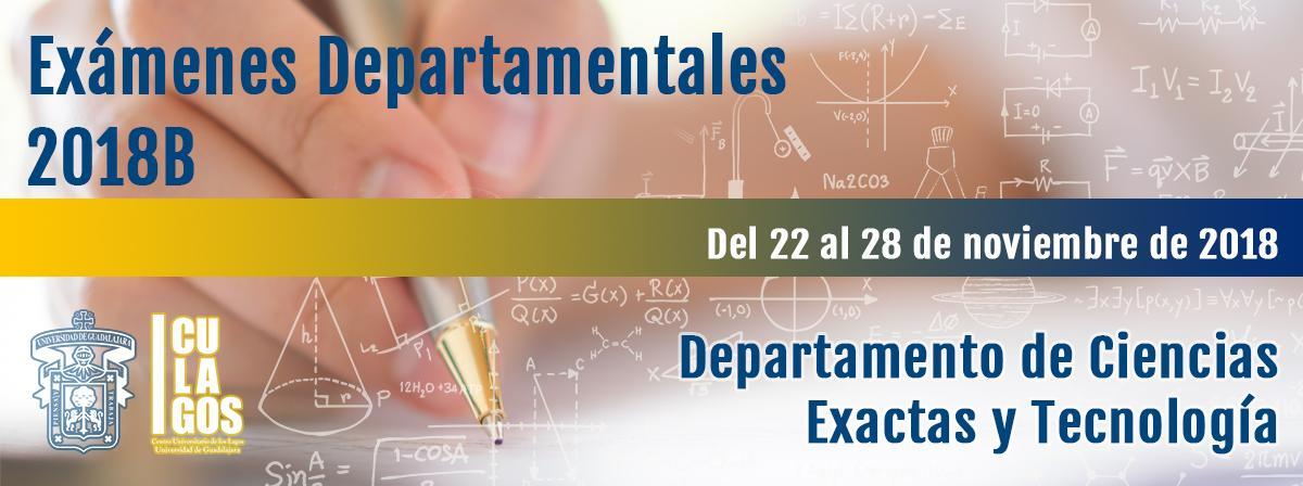 Exámenes Departamentales 2018