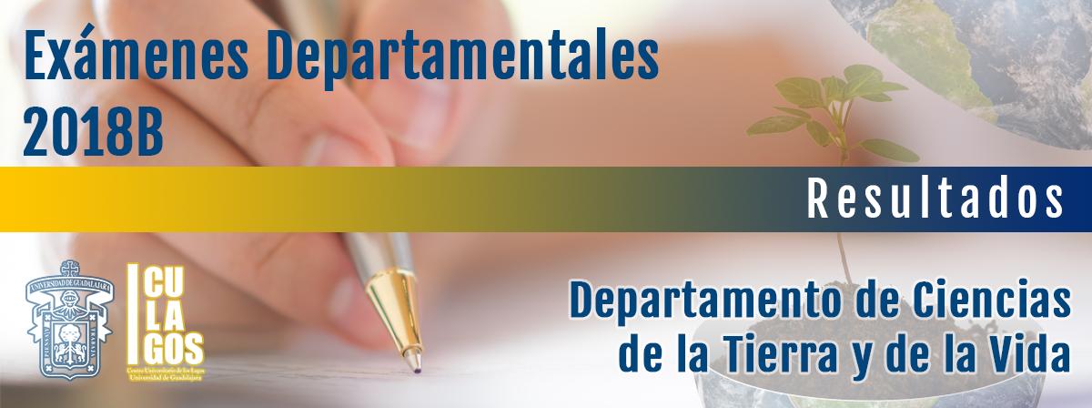 Exámenes Departamentales DCTV 2018B