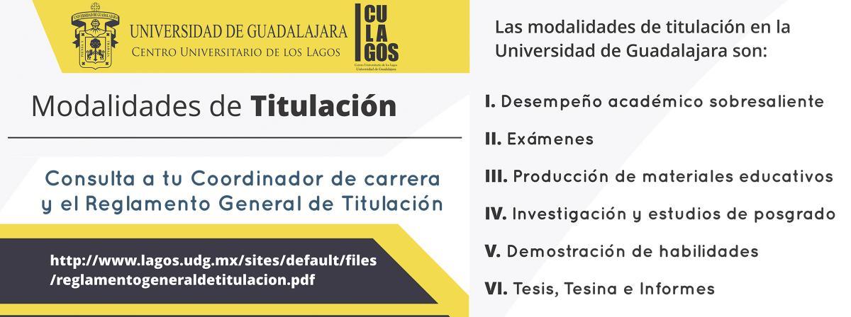 MODALIDADES DE TITULACIÓN