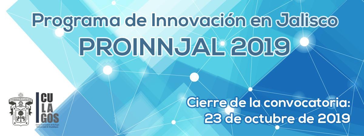 Programa de Innovación en Jalisco PROINJAL 2019