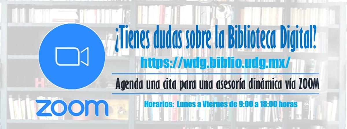 Cita asesorías zoom Biblioteca CuLagos