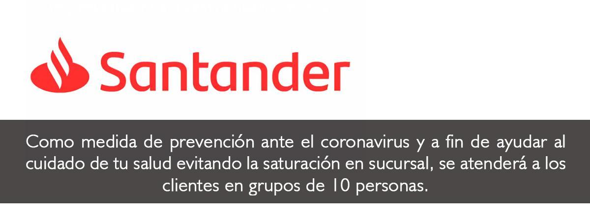 Medida de prención Santander