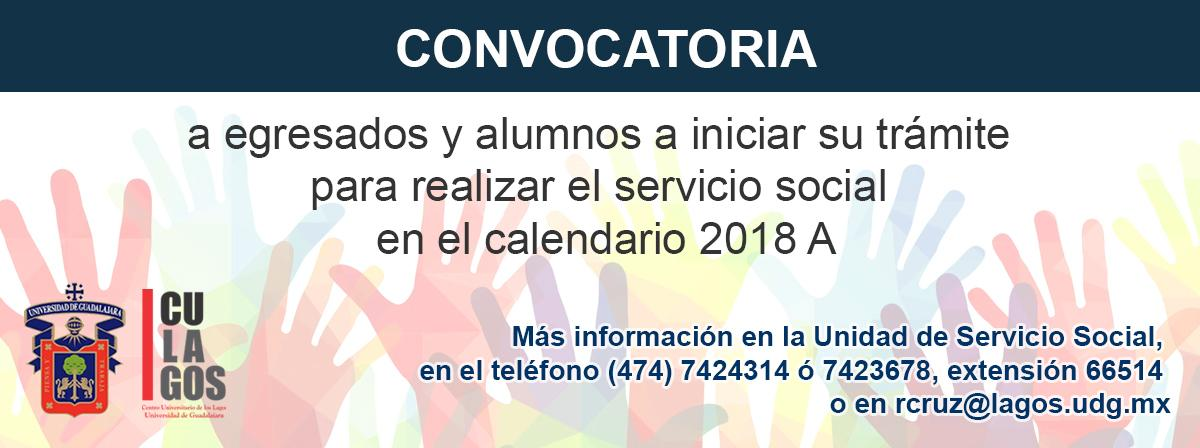 Banner de Información sobre Servicio Social Alumnos 2018A
