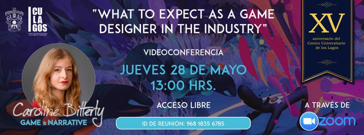 Videoconferencia Game & Narrative Designer