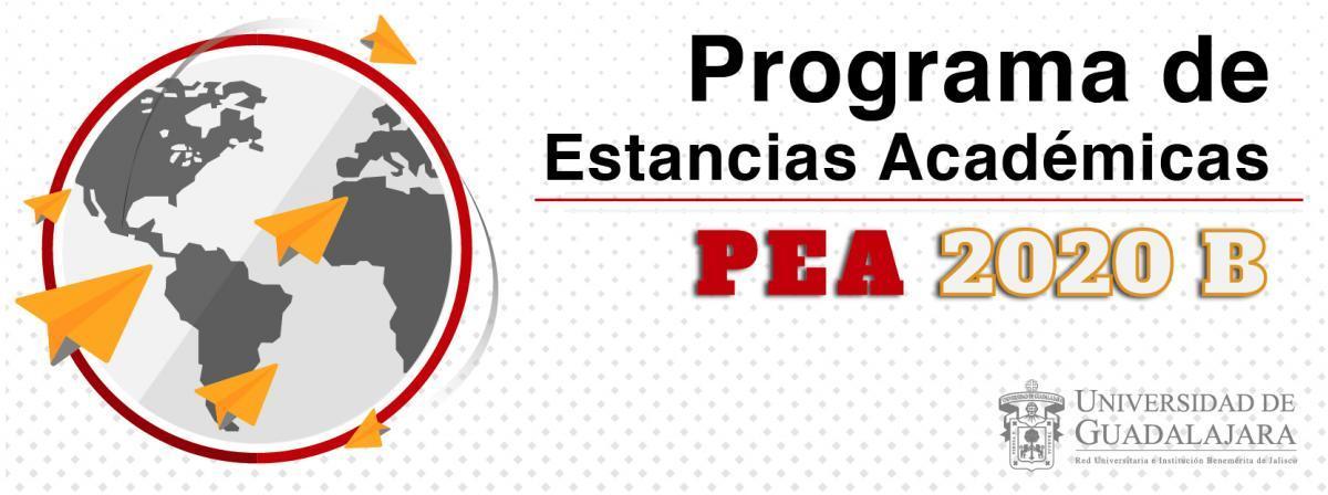 Banner Programa de Estancias Académicas (PEA) 2020 B